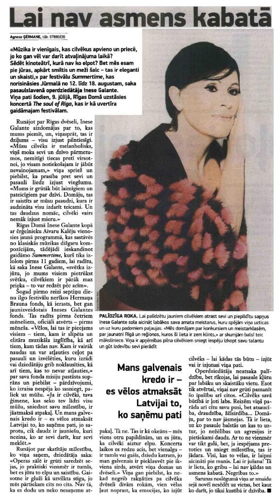 Inese Galante Neatkariga intervija