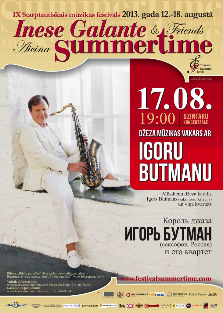 Igor Butman Jazz Summertime Inese Galante Jurmala 2013