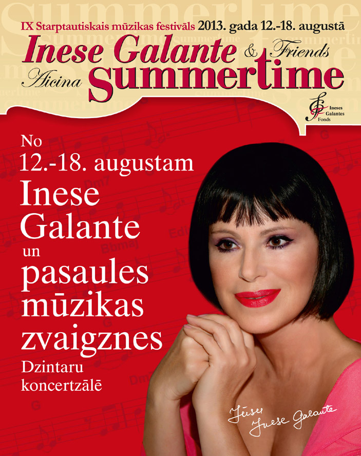 inese galante festival summertime jurmala 2013