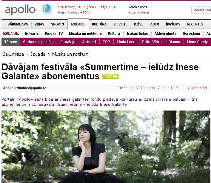 inese galante summertime 2013 apollo lv