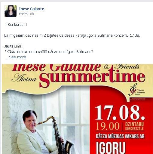 inese galante igors butmans summertime 2013 konkurss facebook