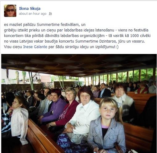 summertime inese galante facebook jaunumi 2013