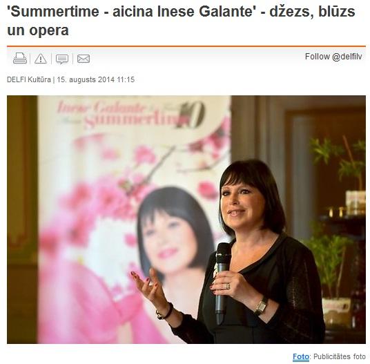 inese galante summertime 2014 jurmala